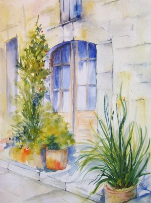 watercolor easy painting simple paintings spring landscape landscapes drawing palette paris water watercolour canvas inspirational beginner strokes freejupiter brush window