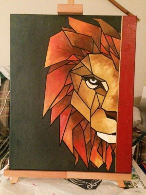 canvas easy painting acrylic beginners designs geometrical