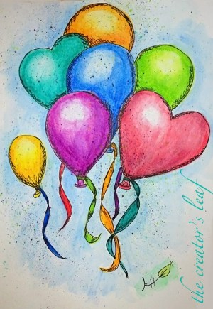 pencil drawings easy simple watercolor painting creative beginners drawing colorful balloons paintings colored pencils beginner water freejupiter thecreatorsleaf cartoondistrict imagination