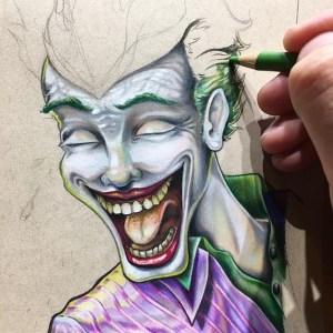 pencil drawings creative simple drawing colored joker pencils easy sketches sketch colorful bryan collins instagram artistic batman coloring progress dc