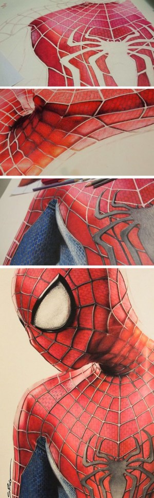 pencil drawings colored drawing simple creative spider sketch spiderman amazing pencils colorful awesome cool sketches colour draw realistic moviepilot colors