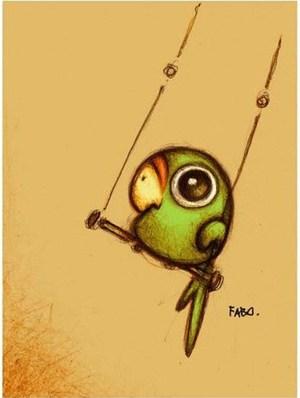 pencil drawings simple creative drawing painting cartoon parrot draw sketches birds animal animals freejupiter bird dibujos source parrots columpio adorable