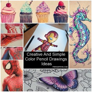 pencil drawings simple creative drawing easy colored craft