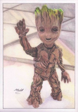 pencil drawings simple creative groot colour drawing draw portraits source deviantart