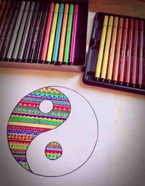 drawings pencil simple creative drawing colorful easy sharpie dibujos zentangle draw colored sketches amazing yang yin cool freejupiter painting doodle