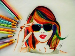 pencil drawings drawing simple creative colour colored sketch sketches easy paintingvalley wheel