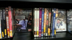 DJVCS DVDs on-the-shelf at Bull Moose, Keene!