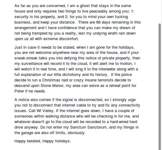 Facebook message Matt sent to Amanda and Pete 2