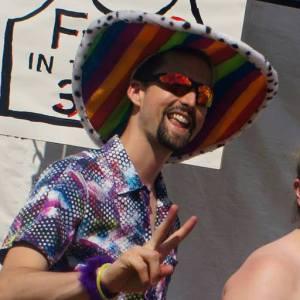 Me @ Buzz' Big Gay Dance Party