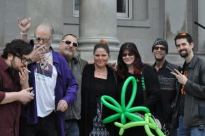 Several longtime cannabis freedom activists at the 2017 Concord smoke-out.