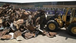 Destruction of Satellite Dishes in Iran