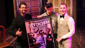 Ian, Darryl (our lucky poster raffle winner!), and Derrick J at the 5th Anniversary Screening