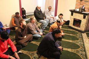 More than a dozen attended the initial Prayer of Jummah