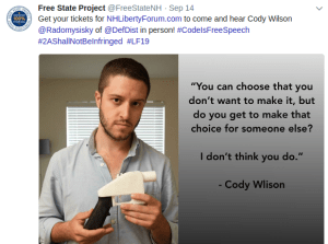 The FSP's Announcement of Cody Wilson's Now-Canceled Speech at Liberty Forum 2019