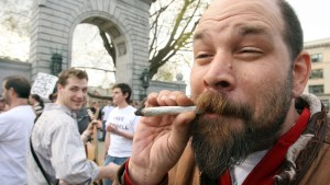 Nobody tokes at the Concord state house 420 - AP Photo