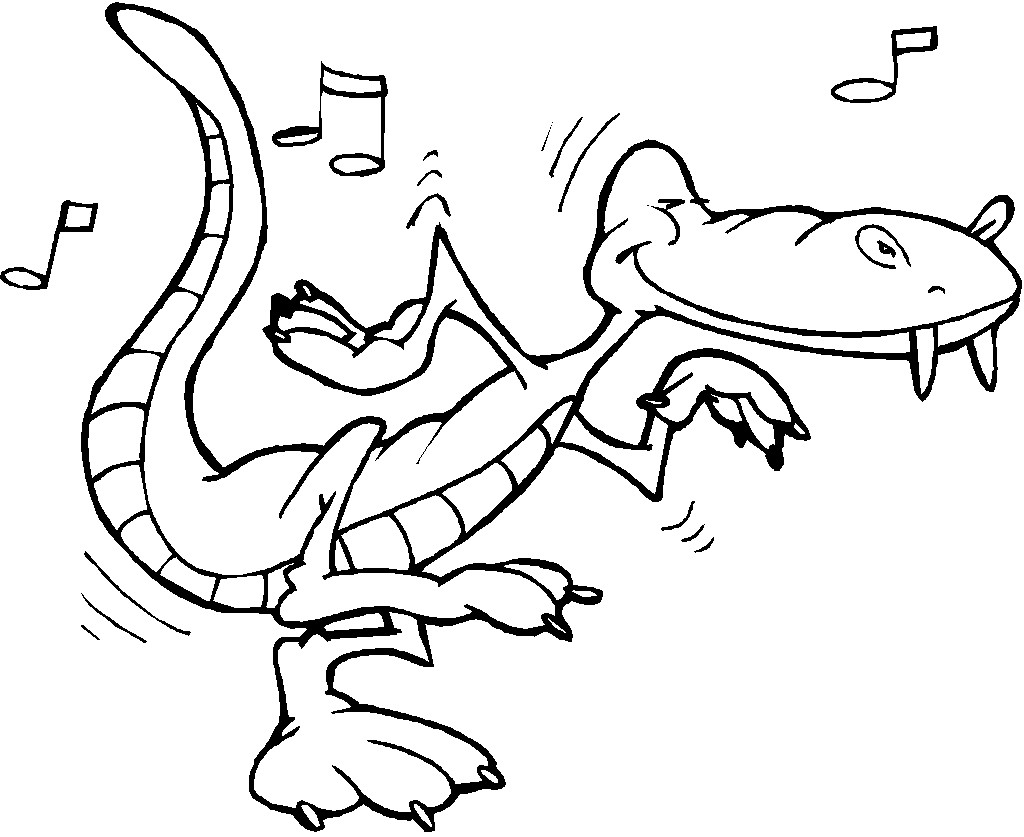 Free Print out alligator online coloring pages for