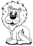 Printable animal funny cat face colouring pages for
