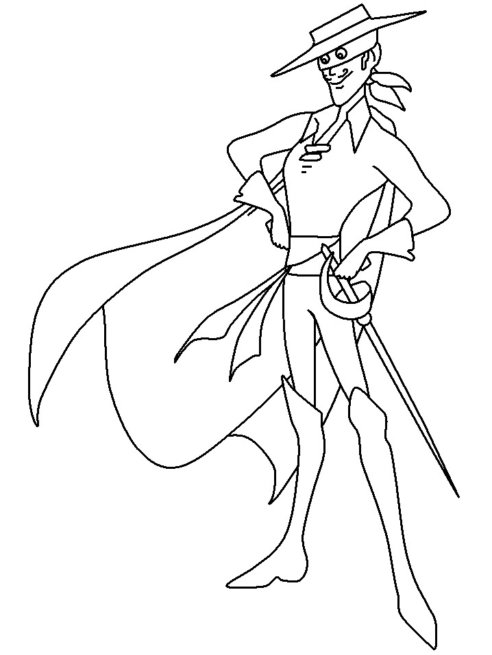 Free Superheroes zorro coloring pages to print outFree