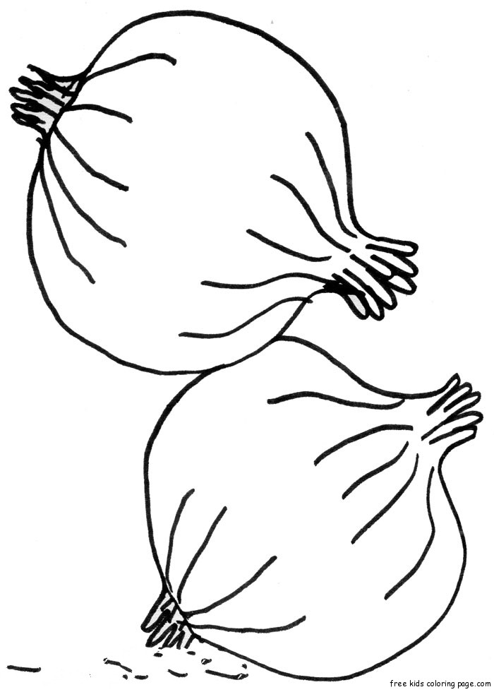 Vegetables Printable Coloring Pages