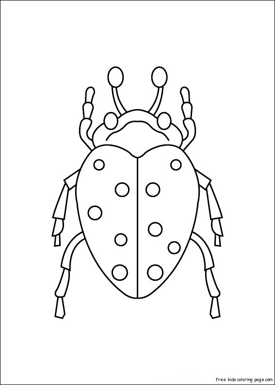 Print Out Insects Carrion Beetles Coloring PagesFree