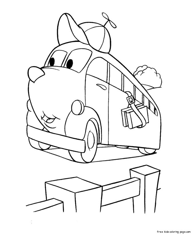 Printable happy face cars coloring pages for kidsFree