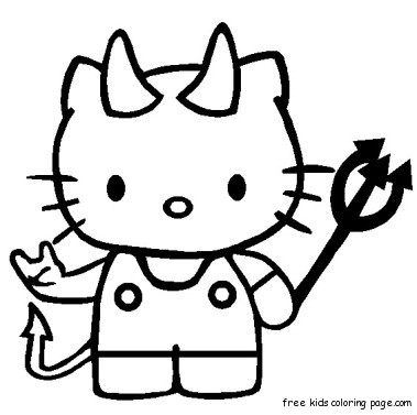 Print out hello kitty halloween coloring bookFree