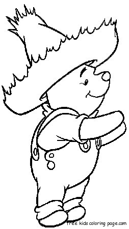 Coloring pages Winnie the Pooh Disney CharactersFree