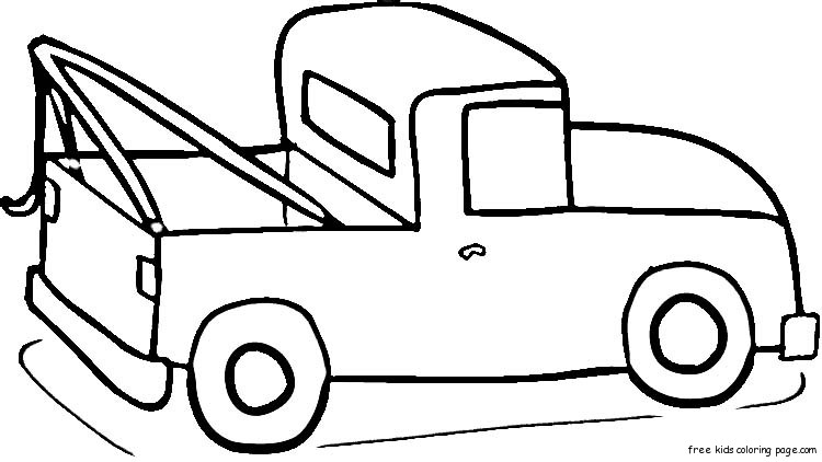 Ford pick up truck coloring page for kidsFree Printable