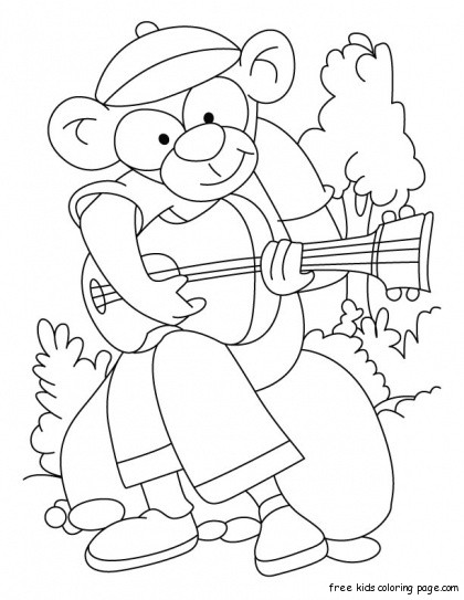 cute monkey printable coloring pages for kidsFree