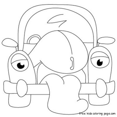 cartoon drawings of classic cars coloring pages for
