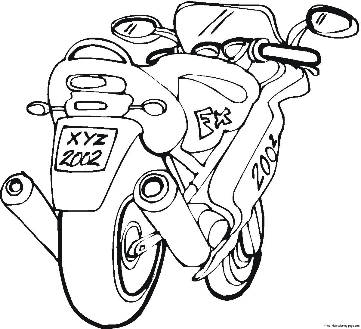 motor bike coloring page  Free Printable Coloring Pages