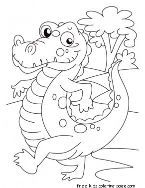 print out Alligator coloring pages for kidsFree Printable