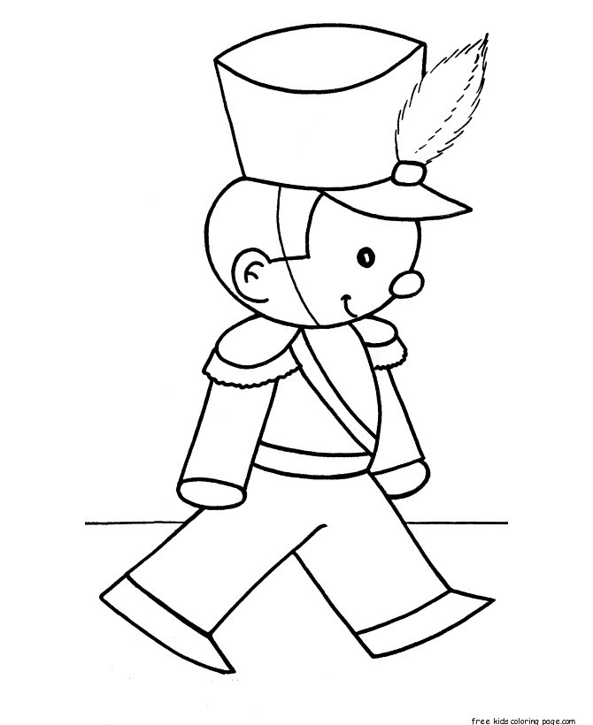 christmas toy soldiers coloring pages for kidsFree