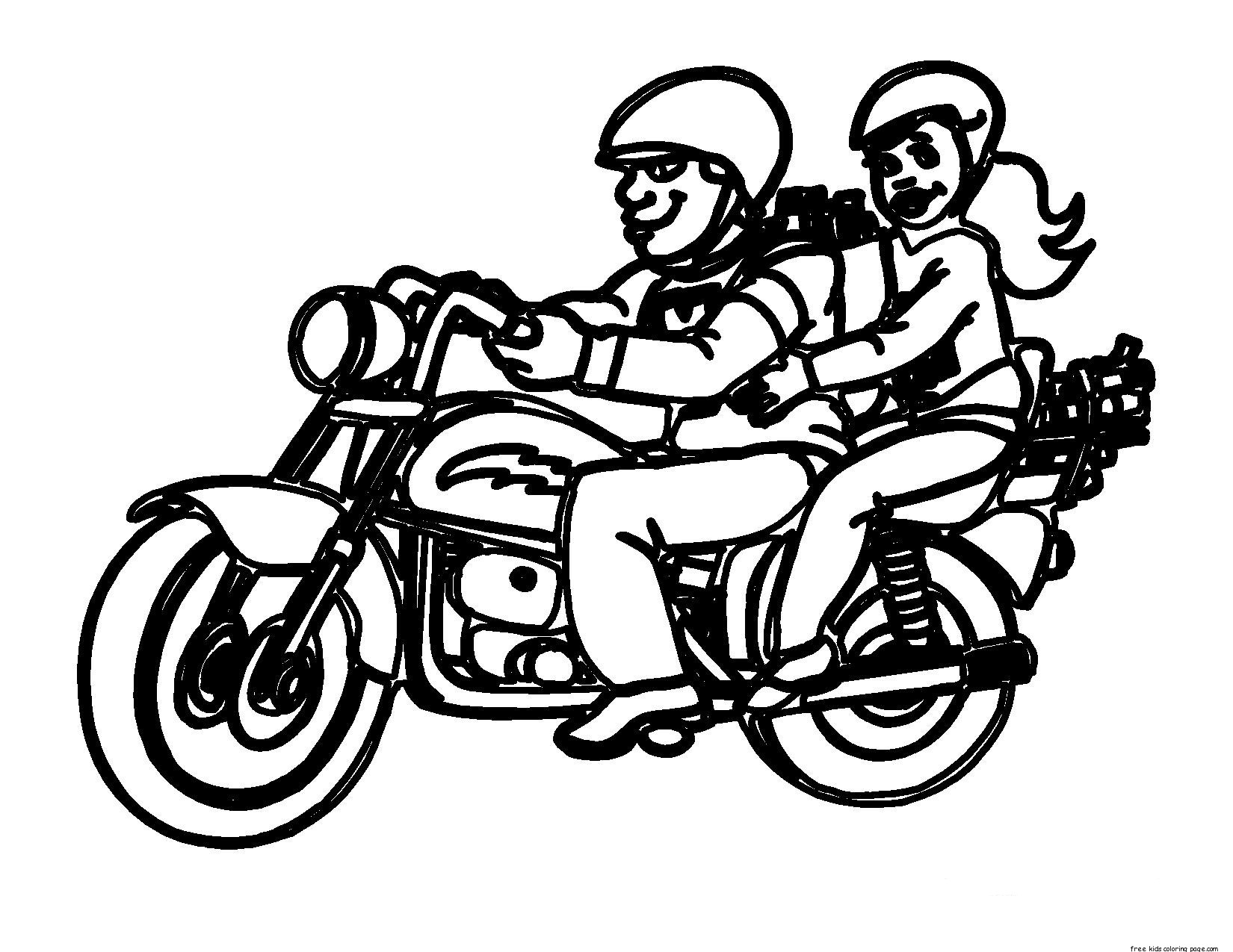 Printable motorcycle rules in california coloring