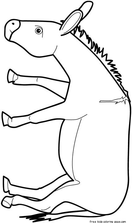 Print out animal donkey Coloring pages for kidsFree