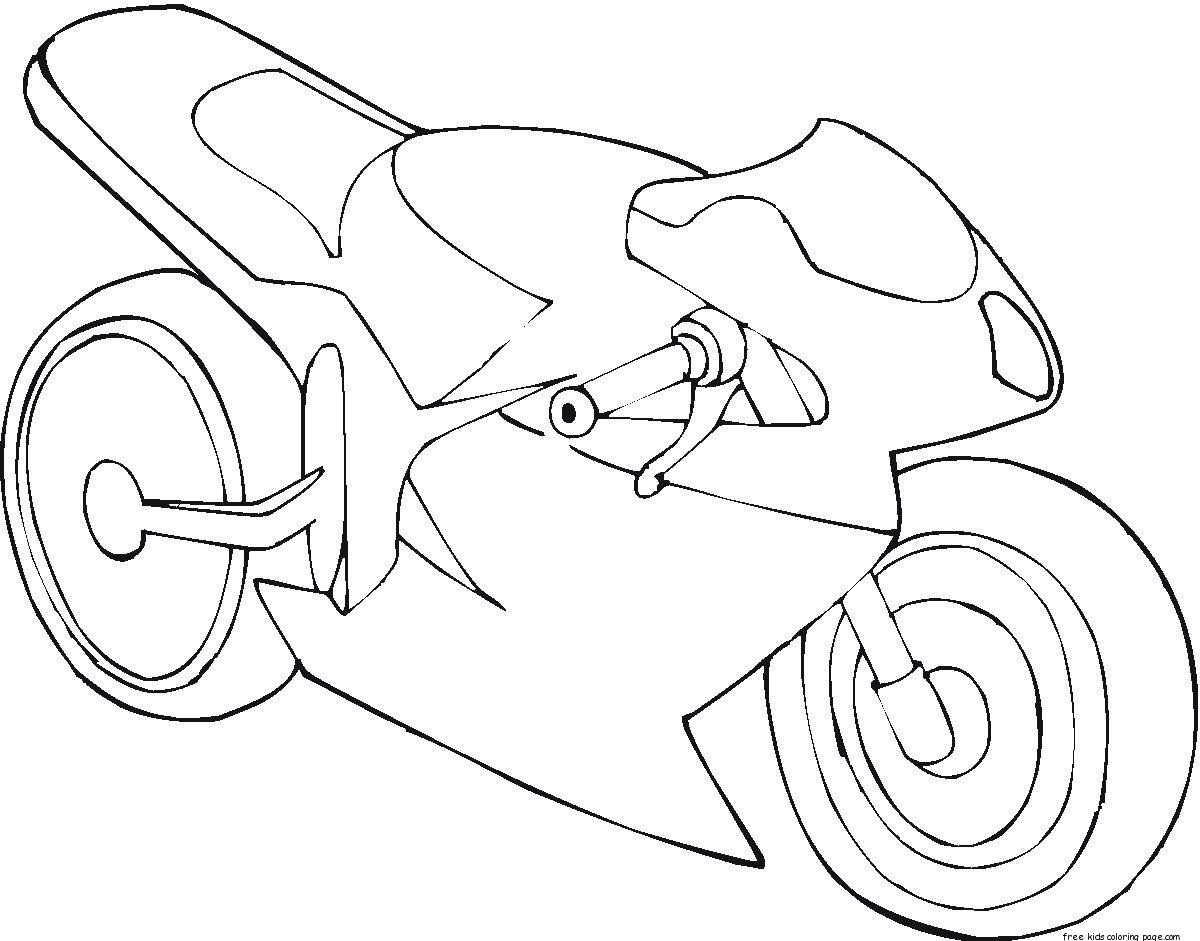 Printable mc motorbike coloring pages for boysFree