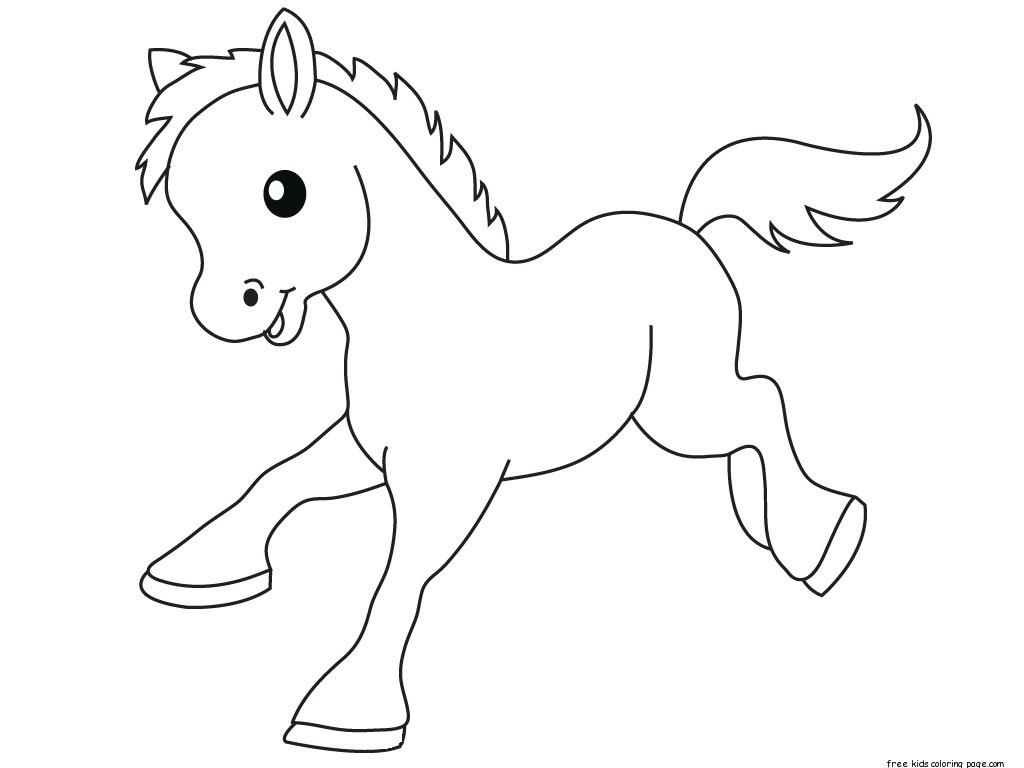 Pony Baby Animals Coloring Pages For Kidsfree Printable Coloring Pages For Kids