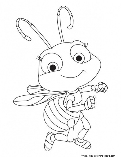 printable baby honey bee coloring book pages for kidsFree