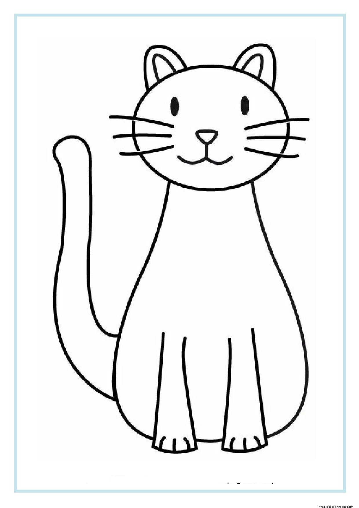 printable cat coloring sheets for kidsFree Printable
