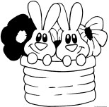 Printable easter bunny colouring pages kid