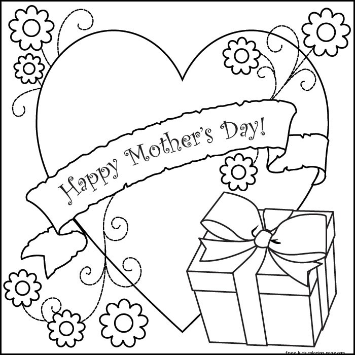 Printable happy mothers day kids coloring pagesFree