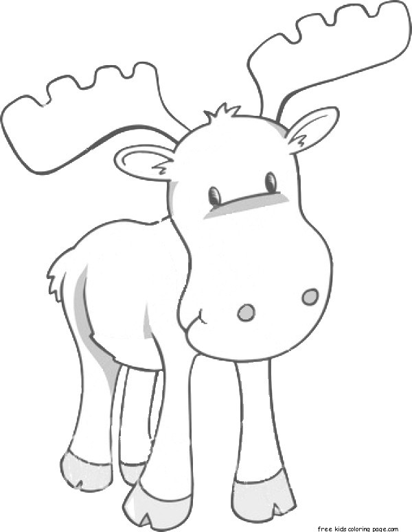 moose coloring pages printable for kidsFree Printable