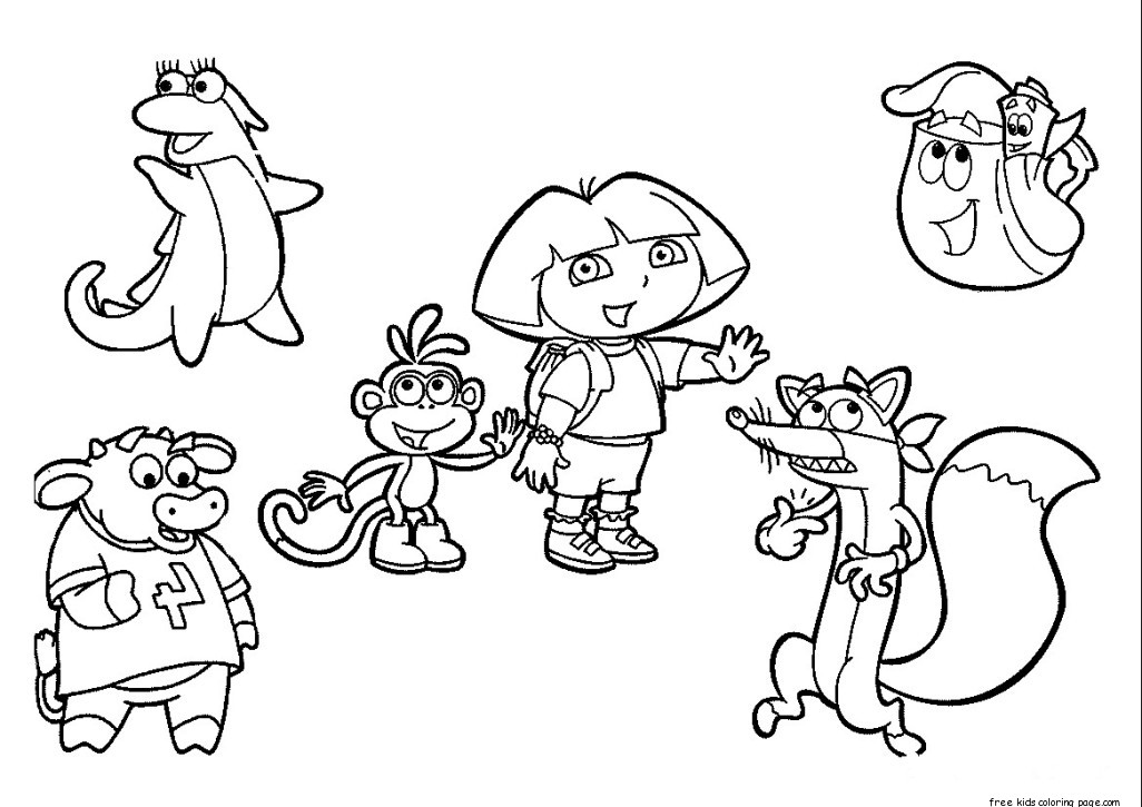 Dora The Explorer Coloring Pages Free To PrintFree