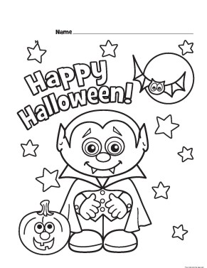 Halloween little vampire printable coloring pages for kids.