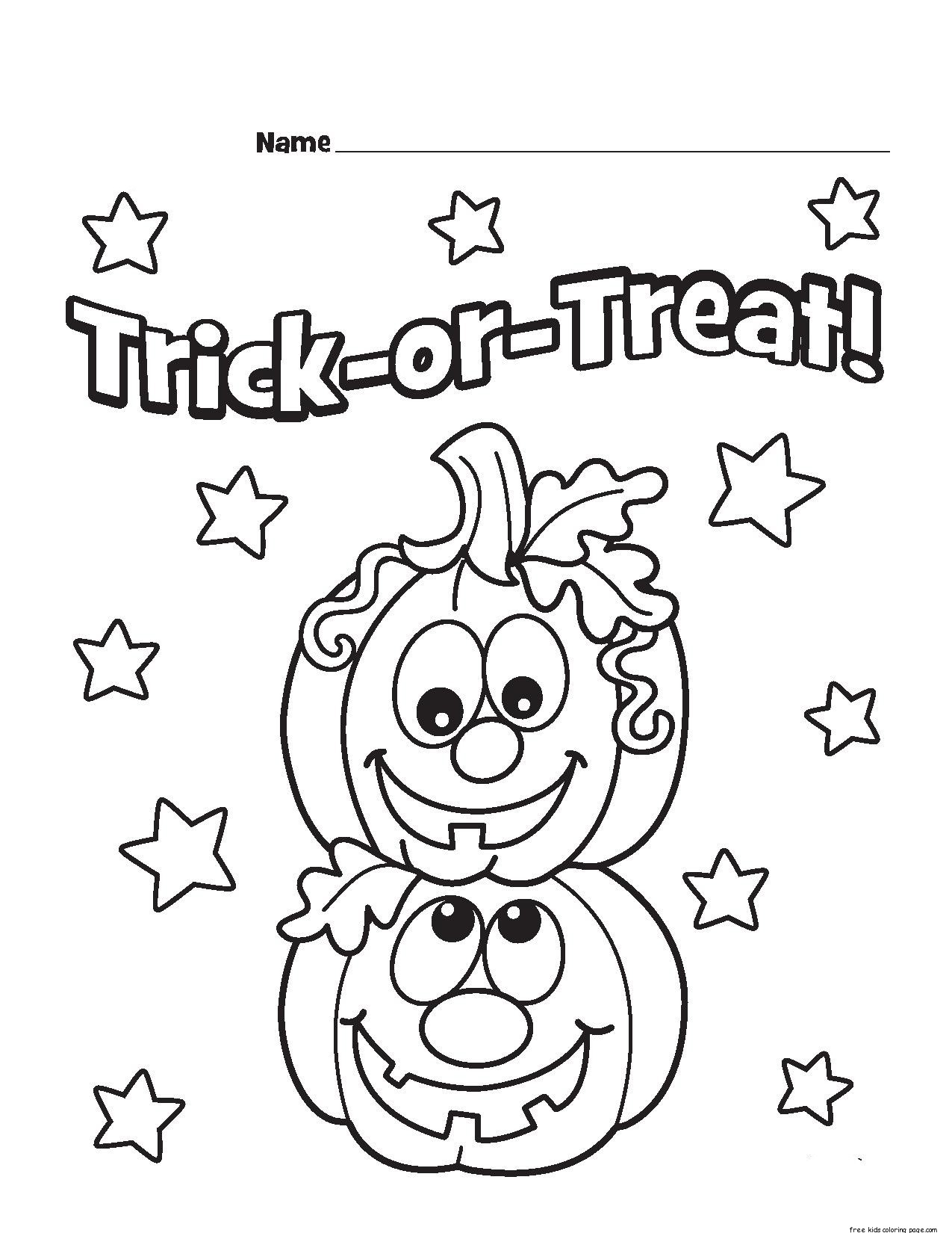 Printable Trick Or Treat Pumpkins Designs Coloring Pagefree Printable Coloring Pages For Kids
