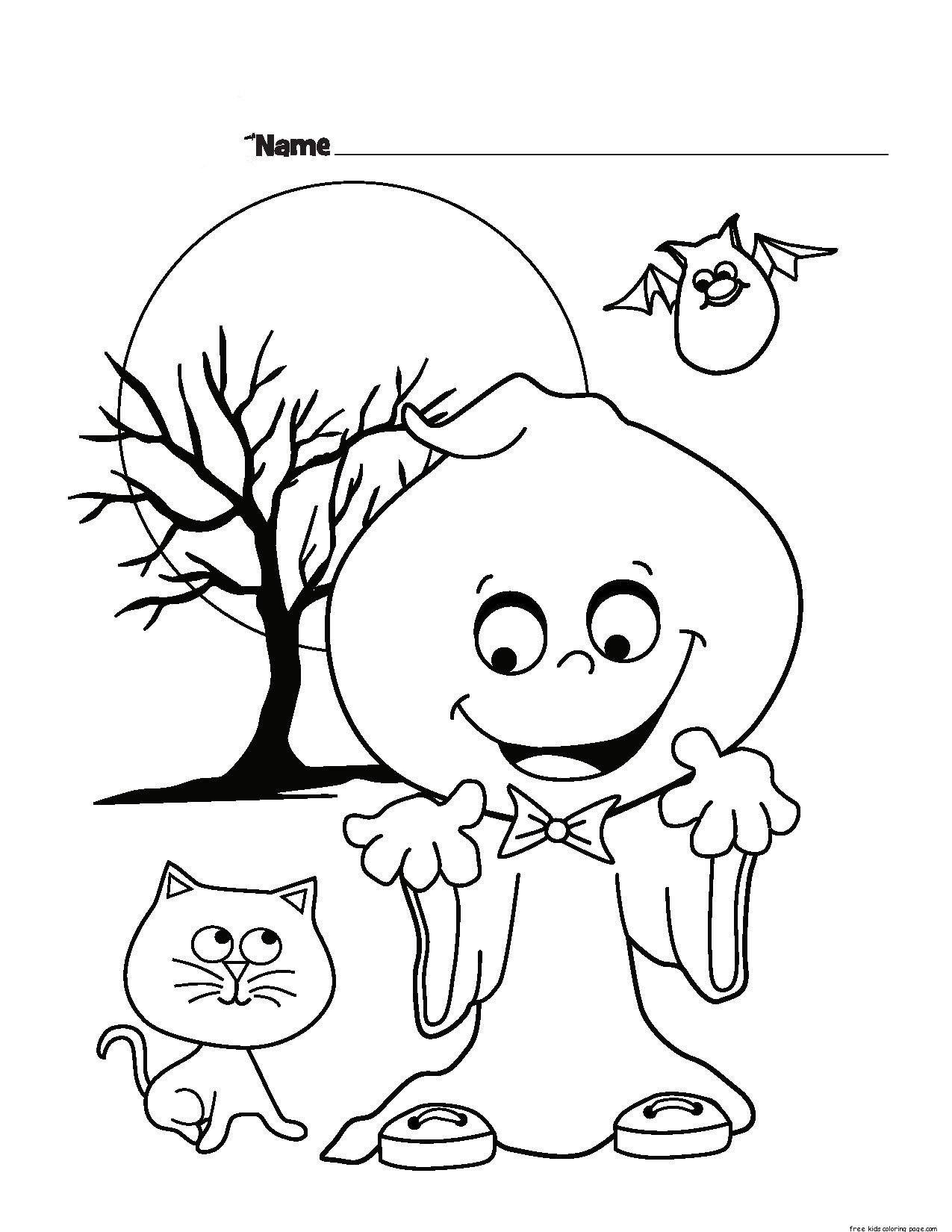 Halloween Ghost Printable Coloring Pages For Kidsfree