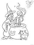 Halloween witch coloring pages to print for kids