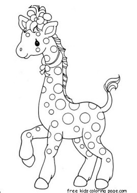 Printable africa animal Giraffe Pair coloring pages for