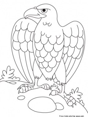 American eagle coloring page printable for kids