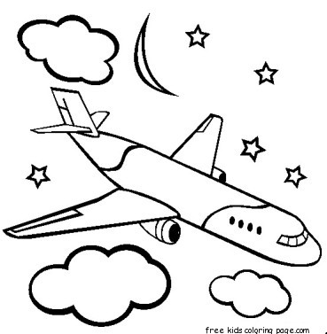 printable boeing airplane coloring pages for kidsFree